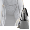 PU Leather Baby Diaper Bag Backpack with Changing Pad and Stroller Straps