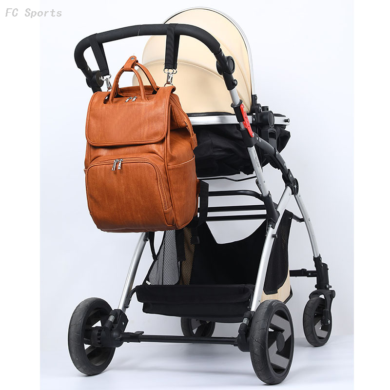 Newest fashion pu leather mommy backpack