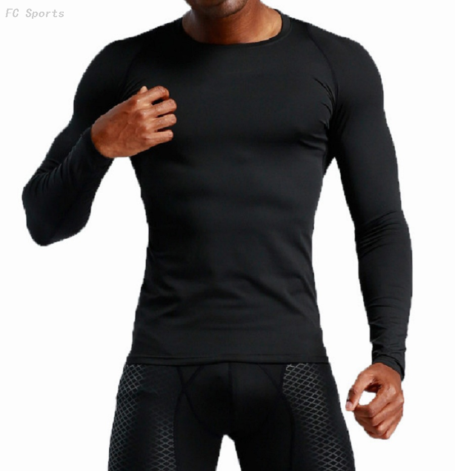 Men's fitness clothing long sleeve compression sports tights outdoor sports quick-drying clothes