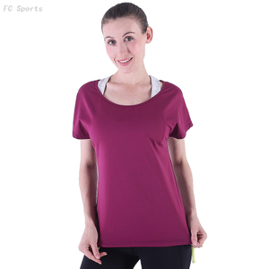 FC Sports Tee shirt Women Slim Breathable Dry Fit Style Fitness Clothes Wholesale