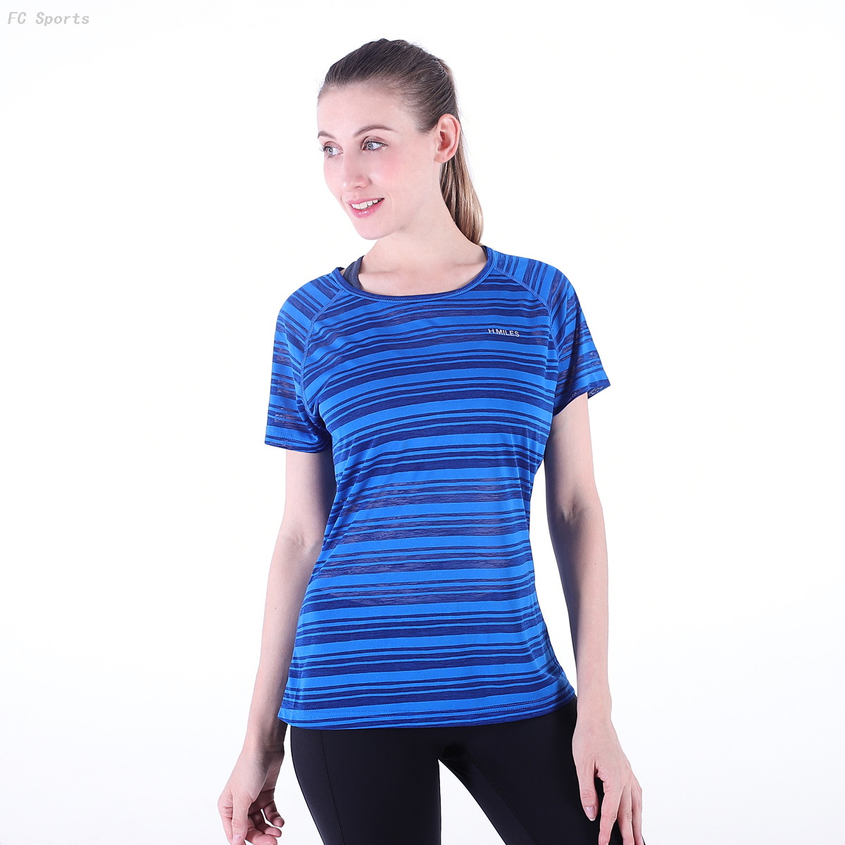 FC Sports Tee shirt Overall Women Slim Breathable Dry Fit Style Fitness Clothes Wholesale