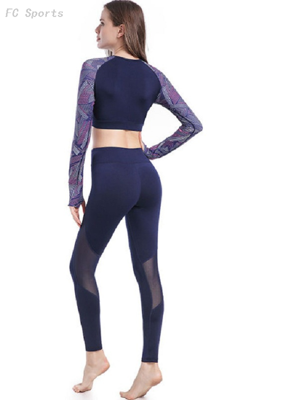 Yoga wear tight fitness exercise running yoga set