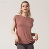 Sexy yoga wear loose&quick-drying workout clothes women's shirt sports running short-sleeved