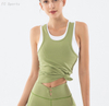 Sports tanks Beauty back sports T-shirt female fitness yoga wear women's chest pad yoga vest