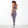2019 FC Sports Sets Running Legging Bra Clothes Yoga Wear Active Gym Wear for Female 2PCS