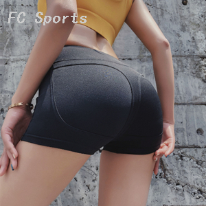 Summer sports peach shorts female tight elastic high waist and hips yoga pants fitness running breathable yoga clothing