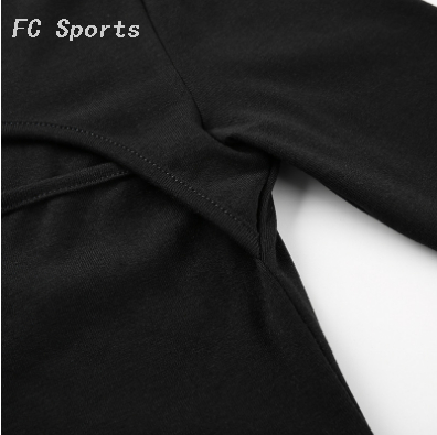 New Gym Shirt Women Sexy Unique Bandage Sport Woman Top Black Fitness Yoga Sports T-shirts Long Sleeve Workout Shirts