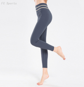Yoga pants female stitching elastic beam foot nine pants hip exercise running fitness clothes