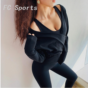 2019 Women Gym Yoga Tops Yoga Shirts Long Sleeve Workout Tops Fitness Running Sport T-Shirts Training Yoga Sportswear
